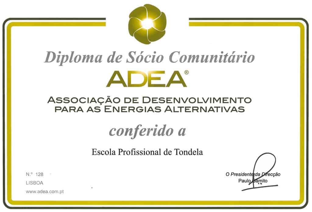 Diploma de Sócio Comunitário da ADEA