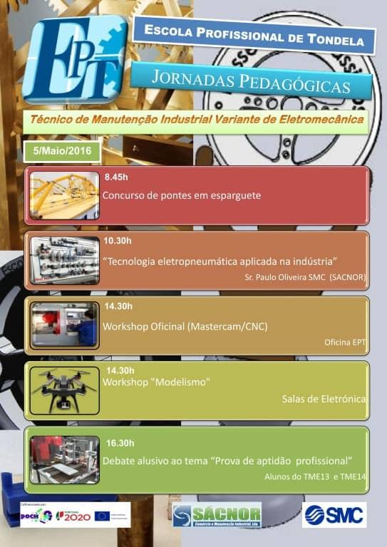 Jornadas Pedagógicas de Manutenção Eletromecânica [Cartaz]