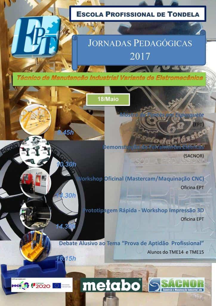 Jornadas Pedagógicas de Manutenção Eletromecânica 2017 [Cartaz]