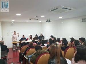 Sessão Escolar da Escola Profissional de Tondela realizada no auditório do Museu Terras de Besteiros