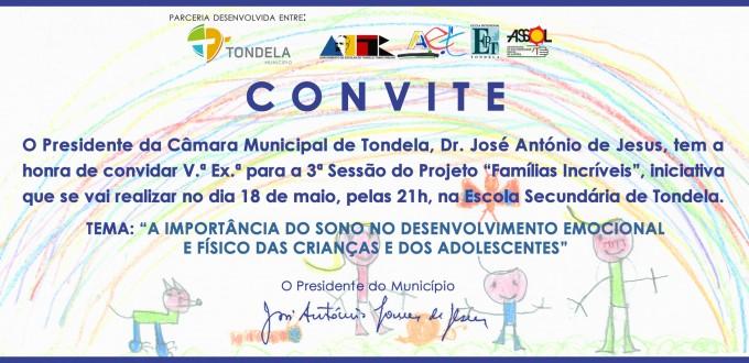 Convite Famílias Incríveis - maio